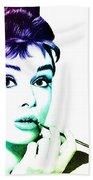 Audrey Hepburn Beach Towel