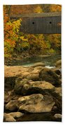 Autumn At Bulls Bridge Beach Towel