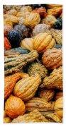 Autumn Gourds Beach Towel by Joann Vitali