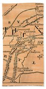 Battle Of Gettysburg, 1863 Beach Towel