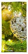 Bauble In A Christmas Tree  Beach Towel