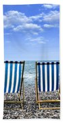 Beach Chairs Beach Towel by Joana Kruse