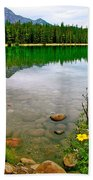 Beauvert Lake In Jasper National Park-alberta-canada Beach Towel