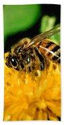 2 Bee Or Not 2 Bee Beach Towel