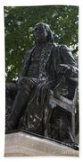Benjamin Franklin Statue University Of Pennsylvania Beach Towel