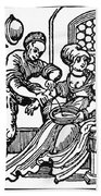 Bloodletting, 16th Century Beach Towel