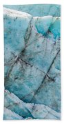 Blue Glacier Ice Background Texture Pattern Beach Towel