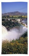 Blue Nile Falls Beach Towel