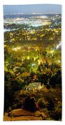 Boulder Colorado City Lights Panorama Beach Towel