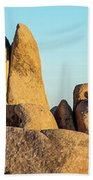 Boulders In A Desert, Joshua Tree Beach Towel