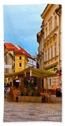Bratislava Old Town Beach Towel