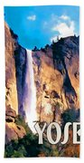 Bridal Veil Falls Yosemite National Park Beach Towel