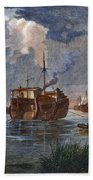 British Prison Ship Beach Towel