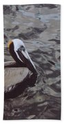 Brown Pelican Beach Towel