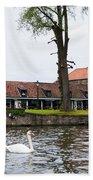 Brugge Canal Scene Beach Towel