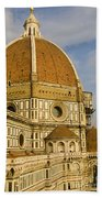 Brunelleschi's Dome At The Florence Cathedral  Beach Towel