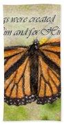 Butterfly Scripture Beach Towel