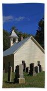 Cades Cove Primitive Baptist Church Beach Towel