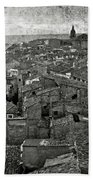 Calahorra Roofs From The Bell Tower Of Saint Andrew Church Beach Towel by RicardMN Photography