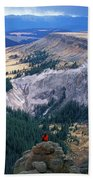 Camping On The Colorado Trail Beach Towel