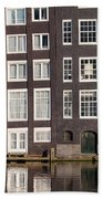 Canal Houses In Amsterdam Beach Towel