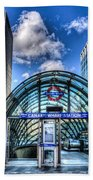 Canary Wharf Station Beach Towel