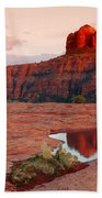 Cathedral Rock Reflection Beach Towel
