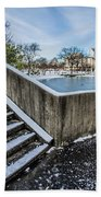 Charlotte North Carolina Marshall Park In Winter Beach Towel