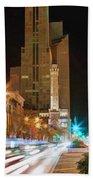 Chicago Michigan Avenue Light Streak Beach Sheet