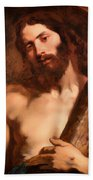 Christ Carrying The Cross Beach Towel