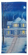 Christmas In Blue Beach Towel