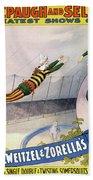 Circus Poster, C1898 Beach Sheet