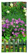 Close-up Of Flowers, Muren, Switzerland Beach Towel