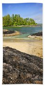 Coast Of Pacific Ocean On Vancouver Island Beach Towel by Elena Elisseeva