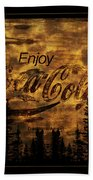 Coca Cola Wooden Sign Beach Towel