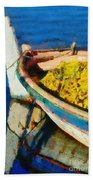 Colorful Boat Beach Towel
