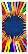 Colorful Pencils Beach Towel