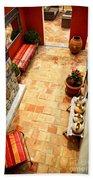 Courtyard Of A Villa Beach Towel by Elena Elisseeva