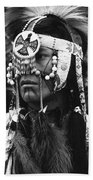 Crow Native American Traditional Dress Rodeo Gallup New Mexico 1969 Beach Towel