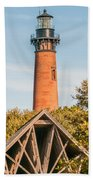 Currituck Beach Lighthouse On The Outer Banks Of North Carolina Beach Towel