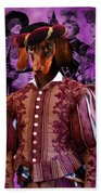 Dachshund Art Canvas Print Beach Towel