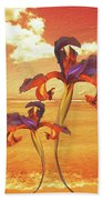 Dancing In The Sunset Beach Towel