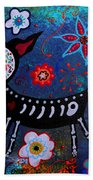 Day Of The Dead Chihuahua Beach Towel