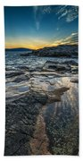 Day's End At Scoodic Point Beach Towel