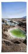 Dead Sea Sinkholes  Beach Towel by Eyal Bartov