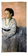 Degas' Madame Rene De Gas Beach Towel