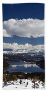 Donner Lake Donner Pass With Snow Beach Towel