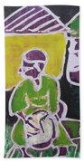 Drummer Boy In The Town Beach Towel