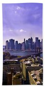 Dumbo View Of Lower Manhattan Beach Towel