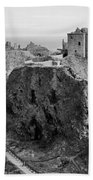 Dunnottar Castle Monochrome Beach Towel